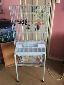 Cage with stand for small parrot (conure,ring neck, cockatiel etc)