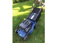 Petrol self propelled lawnmower works great viewing Wsm