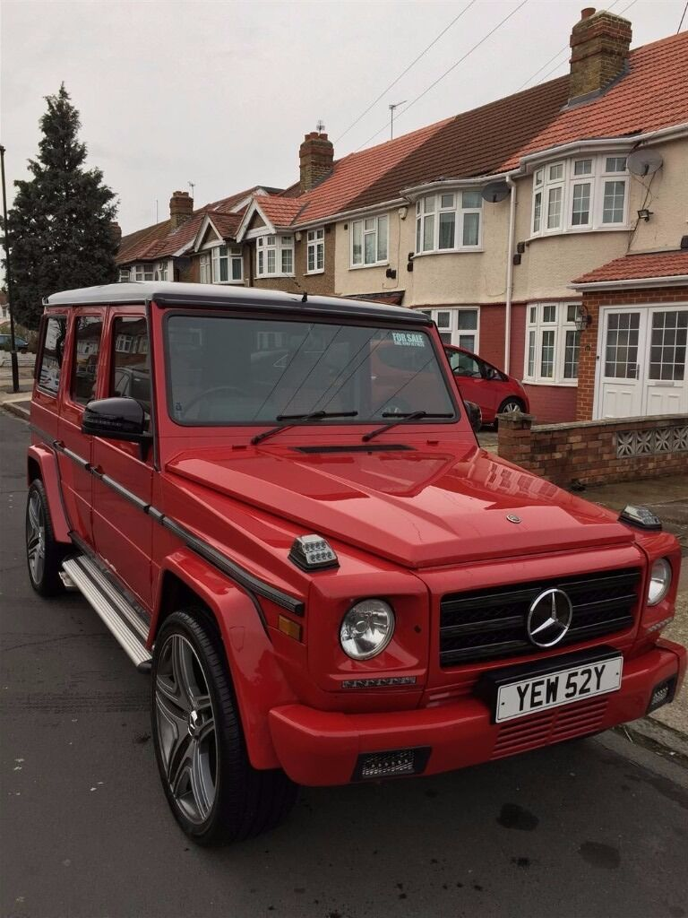 Mercedes 280ge g wagon 1982 red automatic facelifted 2015 for Mercedes benz g wagon amg