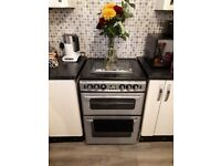 New house silver and black gas cooker