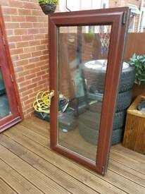 Upvc mahogany Window