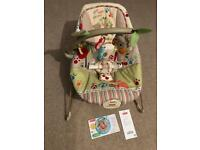 Fisher price bounce chair Woodsey friends