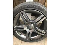 Cheap set of Audi A4 s line alloys 5x112 fit vw and others