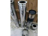 125mm twin wall flue pipe