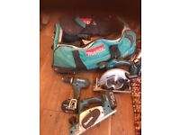 Makita set all in good condition with batteries