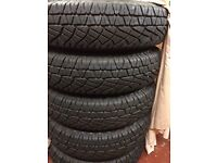 land rover defender brand new wheels and tyres. set of five with michelin tyres