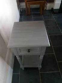 Grey Telephone Side Table