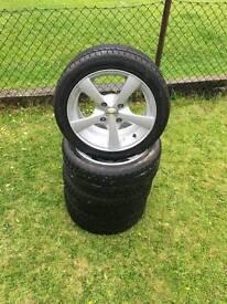 """Dezent 15"""" 5 Spoke Alloy Wheels"""