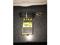 Boss Turbo Distortion pedal DS-2 with cable