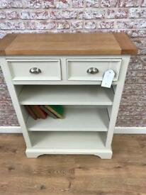 3 shelf 84cm wide bookcase with drawers