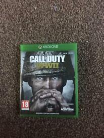 Call of duty ww2 for Xbox one very good condition