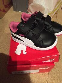 Girls puma trainer- brand new with box