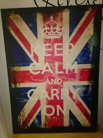 Large Canvas Reads keep calm and carry on