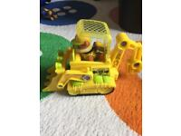Paw patrol Rubble Jungle pup vehicle with pup
