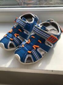 Kids blue sandals size 11
