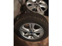 Ford alloys set of 4 one with tyre 215 65 16