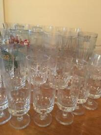 Various glasses including crystal