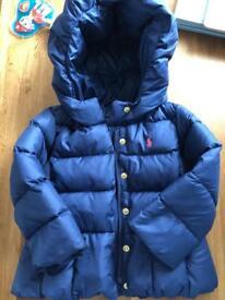 Genuine Ralph Lauren padded winter coat age 2