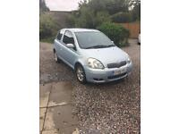 Toyota Yaris blue edition low mileage