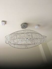Oval light fitting ceiling light