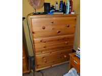 3 Deep Drawer Pine Chest made by Corndell