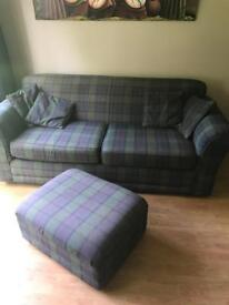 settee and footstool
