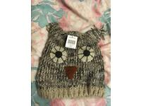 CUTE OWL ADULT BEANIE!! From accessorize