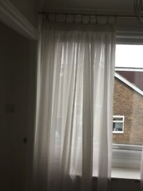 Off white voile curtains