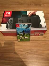 Nintendo switch like new with zelda