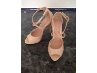 New Lipsy Nude High Heels size 3
