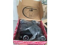 Quad Roller Boots and Protective Gear- Brand New