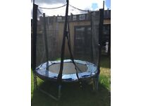 Trampoline with round shape for maximum two children, two years old, good conditions