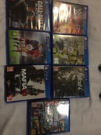 PS4 game starts wwe mafia fifa cod fallout gta