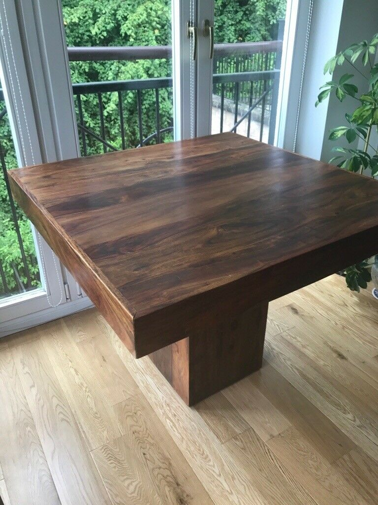 Indonesian Hardwood Dining Room Table And 4 Chairs
