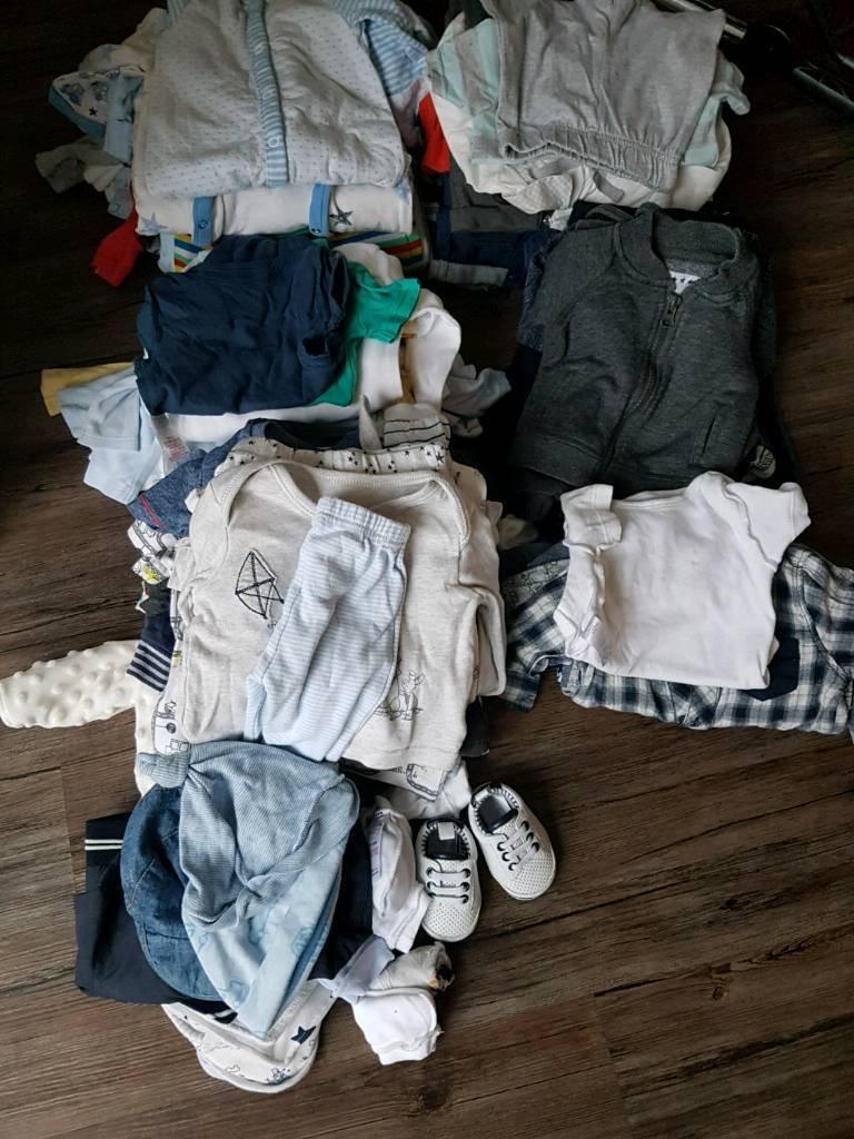 Massive bundle boys clothes 0-3 months