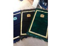 Kaaba velvet feel Islamic mashallah prayer mats