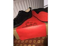 Christian Louboutin Black Suede Low.