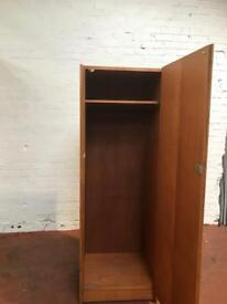 Office Brown Wooden Retro Wardrobe