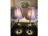 Beautiful Pair Of Brushed Chrome Table Lamps From House Of Frazer Selby Must See