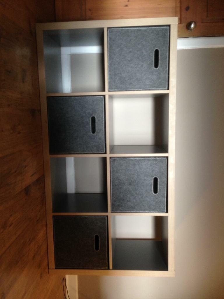 ikea kallax expedit unit in grey & wood effect | in southside
