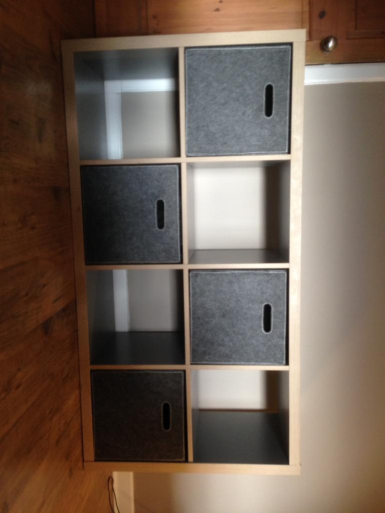 ikea kallax expedit unit in grey & wood effect | in clarkston