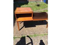 Vintage 1960s telephone table