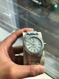 Audemars Piguet Royal Oak 41mm, White Dial, Swiss ETA Water Proof