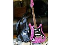 electric guitar with strap &bag