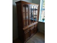 FOR SALE - SOLID WOOD DISPLAY CABINET/CUPBOARD