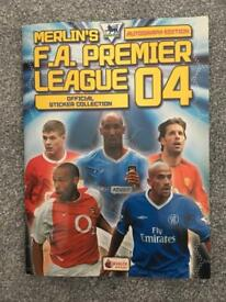 Merlin's Premier League Sticker Album 2004