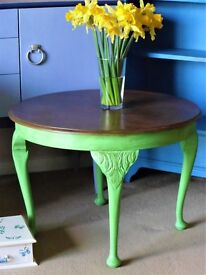 Wooden (part painted) coffee table