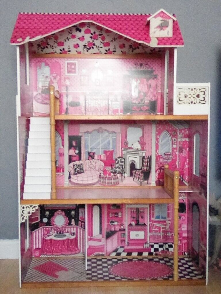 Childrens Wooden 3 Storey Doll House / Play House | in Grangetown, Cardiff  | Gumtree