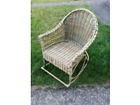 A Wicker Rocking Chair in good condition but taking up too much space now
