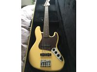 Fender Jazz V Mexican Active Deluxe bass guitar, great condition, £500